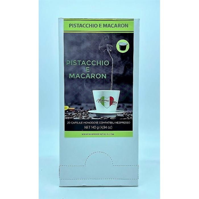 miscela solubile al gusto pistacchio e macaron mamma mia italia